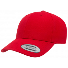 Кепка FlexFit 6789M - Curved Visor Snapback Red