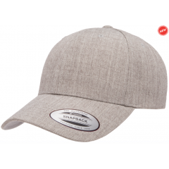 Кепка FlexFit Curved Visor Snapback Heather Grey