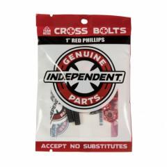 Винты для скейта Independent - Phillips Hardware 1 in Black/Red
