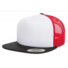 Кепка FlexFit Trucker Black/White/Red