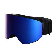 Горнолыжная маска VIZZO AFFECT blue ionized mirror black frame